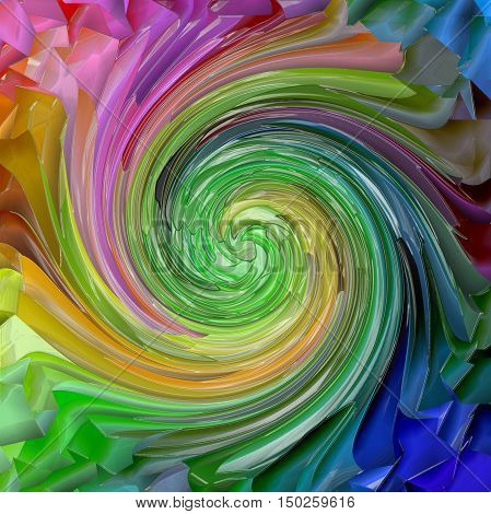 Abstract coloring background of the pastels gradient with visual lighting, mosaic,pinch,plastic wrap and twirl effects.Good for your project design