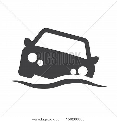 car wave black simple icons set for web design