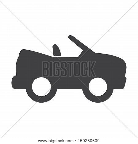 cabriolet black simple icons set for web design
