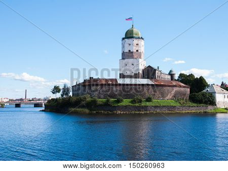 Vyborg, Russia September 3, 2016: Old Swedish castle in Vyborg in Vyborg, Russia