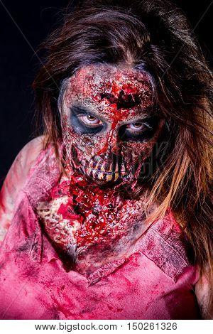 Zombie Girl Staring