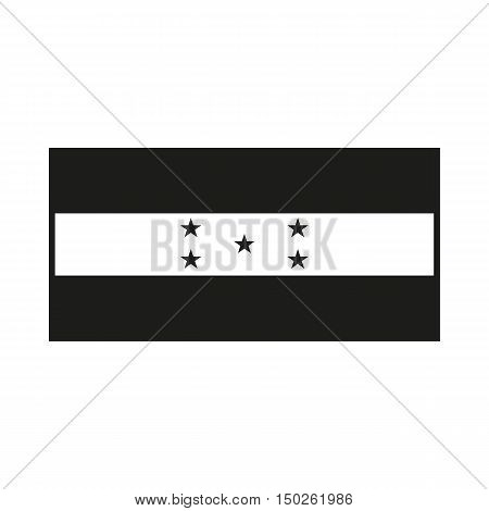honduras flag. Icon Created For Mobile Web Decor Print Products Applications. Black icon isolated on white background. Vector illustration.