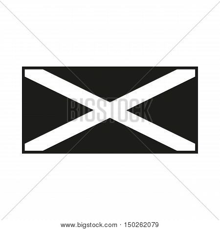 Jamaica flag. Icon Created For Mobile Web Decor Print Products Applications. Black icon isolated on white background. Vector illustration.