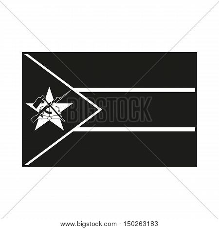 Flag of Mozambique Icon Created For Mobile Web Decor Print Products Applications. Black icon isolated on white background. Vector illustration.
