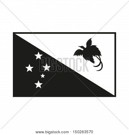 papua new guinea flag. Icon Created For Mobile Web Decor Print Products Applications. Black icon isolated on white background. Vector illustration.