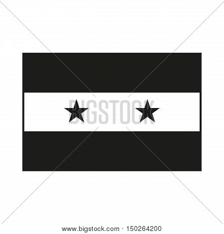 Syria flag Icon Created For Mobile Web Decor Print Products Applications. Black icon isolated on white background. Vector illustration.