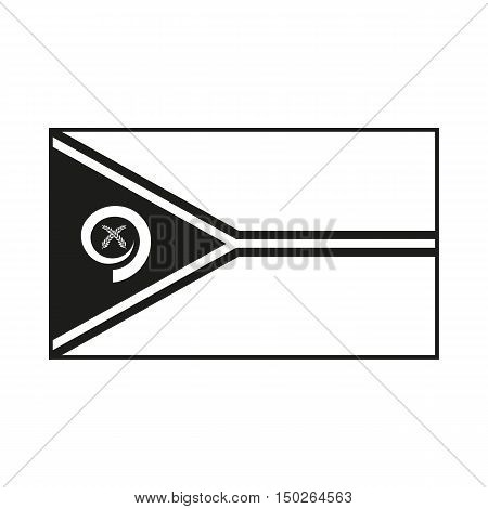 Flag of Vanuatu Icon Created For Mobile Web Decor Print Products Applications. Black icon isolated on white background. Vector illustration.