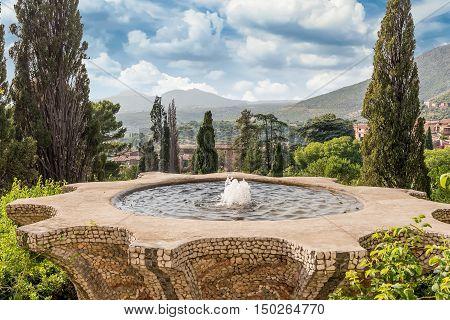 Fountain Of The Bicchierone In Villa D'este, Tivoli, Italy