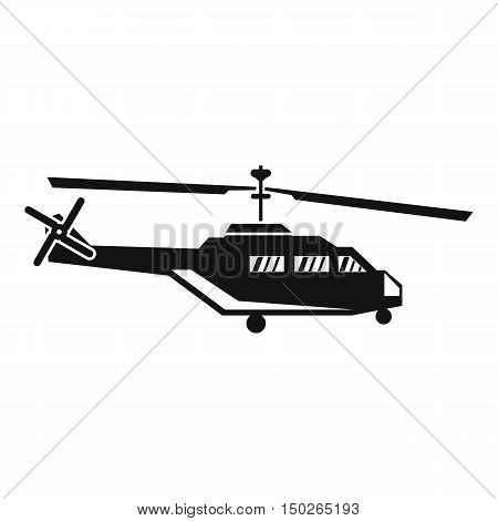 Military helicopter icon in simple style isolated on white background vector illustration