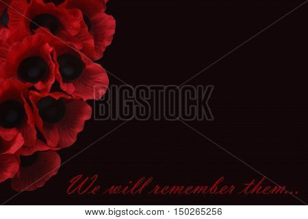 Abstract creative we will remember them Remembrance Day scene