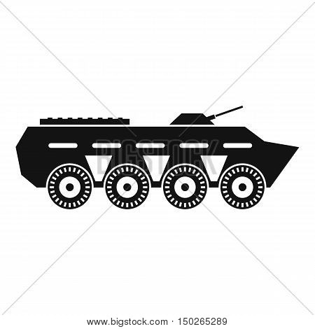 Army battle tank icon in simple style isolated on white background vector illustration