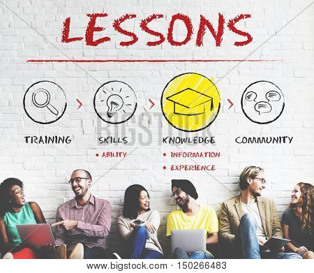 Lessons Education Knowledge Learning Study Concept