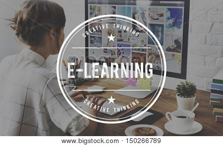 E-Learning Education Instructional Media Networking Concept
