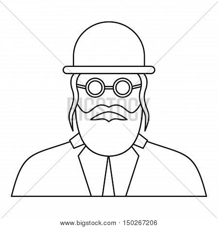 Orthodox jew icon in outline style on a white background vector illustration