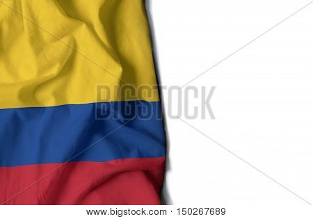 Colombia Wrinkled Flag, Space For Text