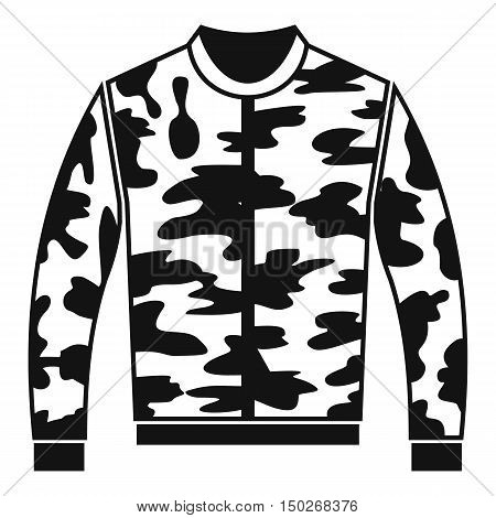 Camouflage jacket icon in simple style on a white background vector illustration