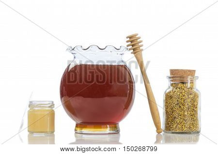 Golden bee pollen with honey and pollen