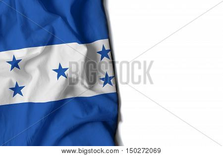 Honduran Wrinkled Flag, Space For Text