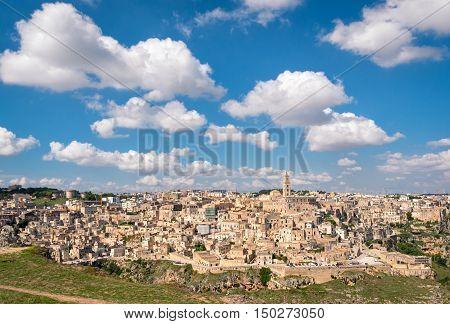 Matera (Basilicata Italy) Sassi scenic panorama view