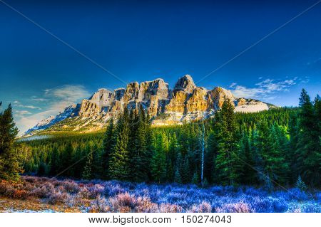 Scenic Mountain views from Banff and Jasper National Park