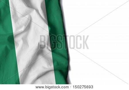 Nigeria Wrinkled Flag, Space For Text