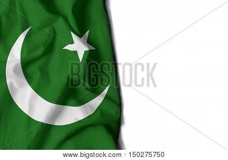 Pakistan Wrinkled Flag, Space For Text