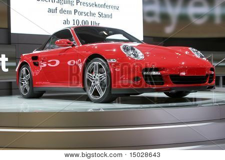 Porsche 911 Turbo cabrio at the IAA in Germany