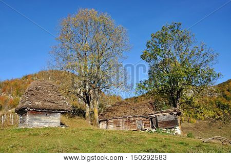 Rustic Barn In The Mountains