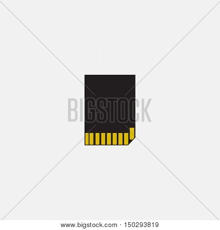 Simple web icon in vector: SD card