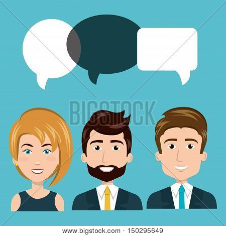 business people smiling with executive clothes and time management icon set. colorful design. vector illustration