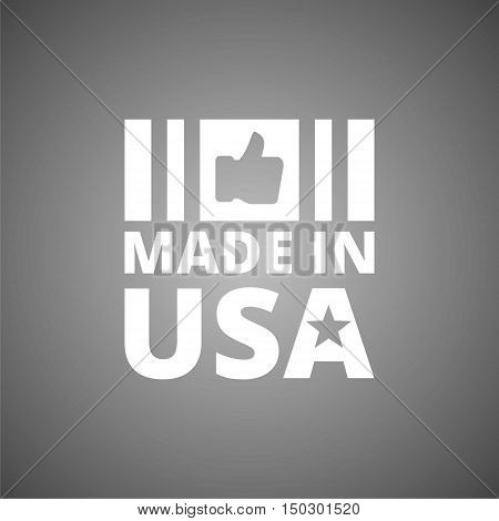 Vector 'Made in USA' icon on gray background