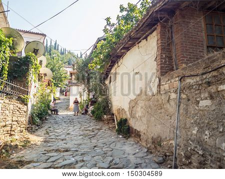 SIRINCE SELCUK TURKEY- SEPTEMBER 13 2016: Sirince is a Greek village of 600 inhabitants in İzmir Province Turkey located about 8 kilometres east of the town Selcuk.