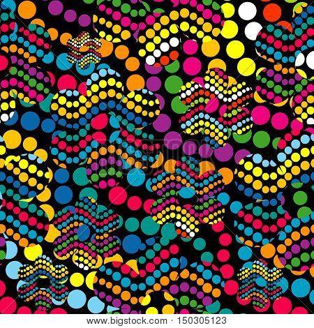 Colorful abstract background made of colored dotes