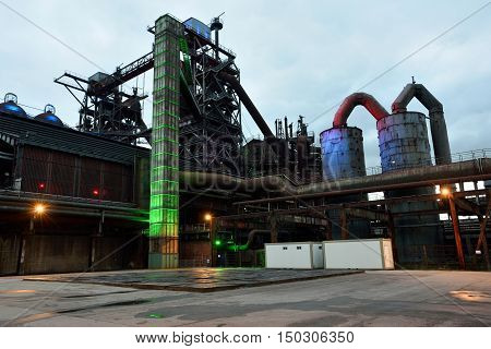 Industrial public park in the German city of Duisburg. Landschaftspark Duisburg-Nord is a public park located in Duisburg-Meiderich, Germany