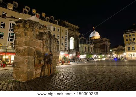 DRESDEN, GERMANY - OCTOBER 26: The Old Town of Dresden on October 26, 2015 in Dresden, Germany. Dresden is the capital city of the Free State of Saxony in Germany.