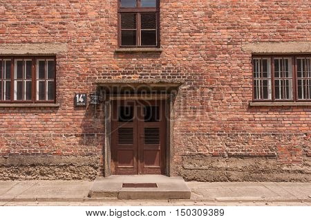 Auschwitz Building Entrance