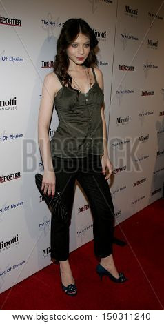 Michelle Trachtenberg at the Art of Elysium Presents Russell Young 'fame, shame and the realm of possibility' held at the Minotti in West Hollywood, USA on November 30, 2005.