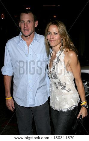 Lance Armstrong and Sheryl Crow at the Los Angeles Free Clinic's 29th Annual Dinner Gala at the Regent Beverly Wilshire in Beverly Hills, USA on November 21, 2005.