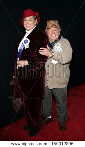 Mickey Rooney and wife Jan Rooney at the 2005 Hollywood Christmas Parade held at the Hollywood Roosevelt Hotel in Hollywood, USA on November 27, 2005.