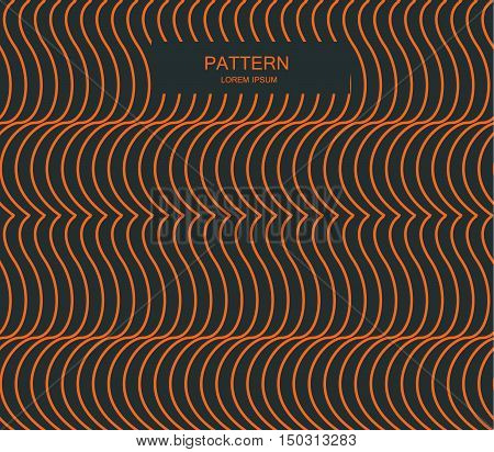 Seamless Ripple Pattern. Repeating Texture. Wavy Graphic Background. Simple Linear Waves