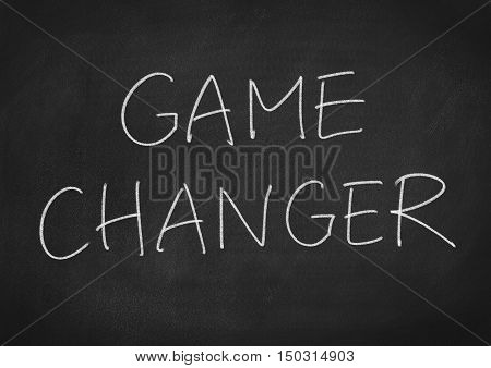 Game Changer concept. text on blackboard background
