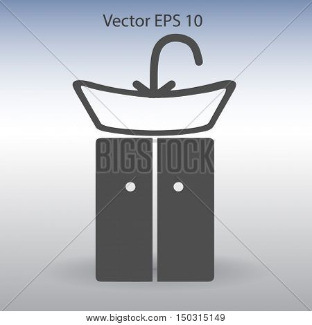 wash-hand basin vector illustration