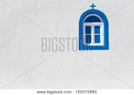 White church wall in Kos island Greece