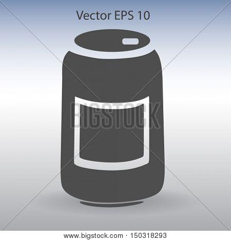 Tin icon. Vector illustration