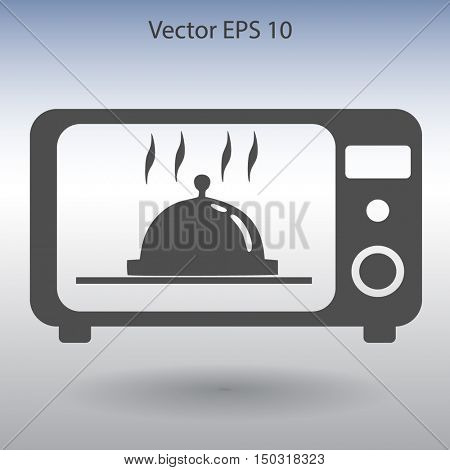 cooking in a microwave oven vector