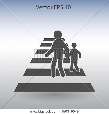 crosswalk vector icon