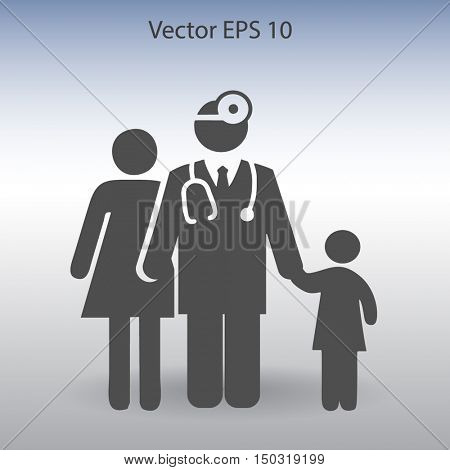 Family practice vector illustration