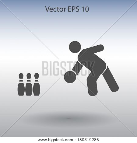 bowling vector icon