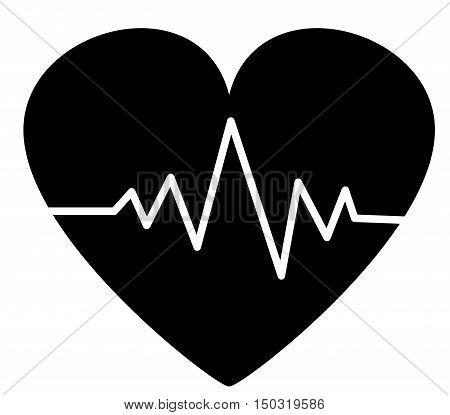 Heartbeat / heart beat pulse flat icon
