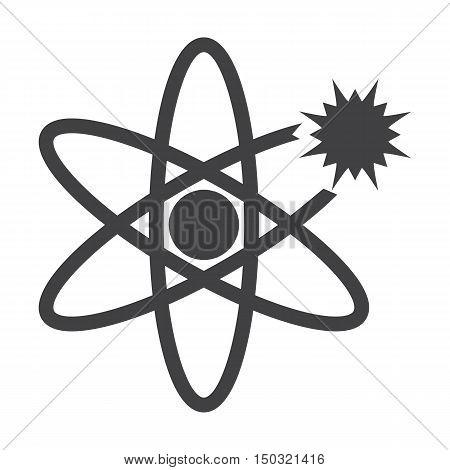 atom black simple icon on white background for web design